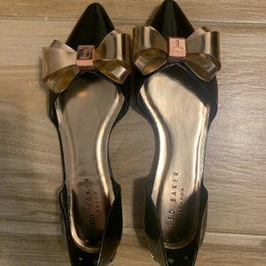 Ted Baker Black/Rose Gold Flats - Size 9 39